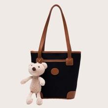 Bolso tote con diseño de oso de dibujos animados