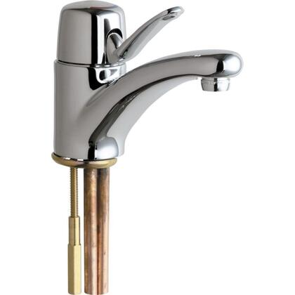 2200-ABCP Single Hole 1-Handle Low Arc Bathroom Faucet in Chrome with 4-3/4 in. Integral Cast Brass