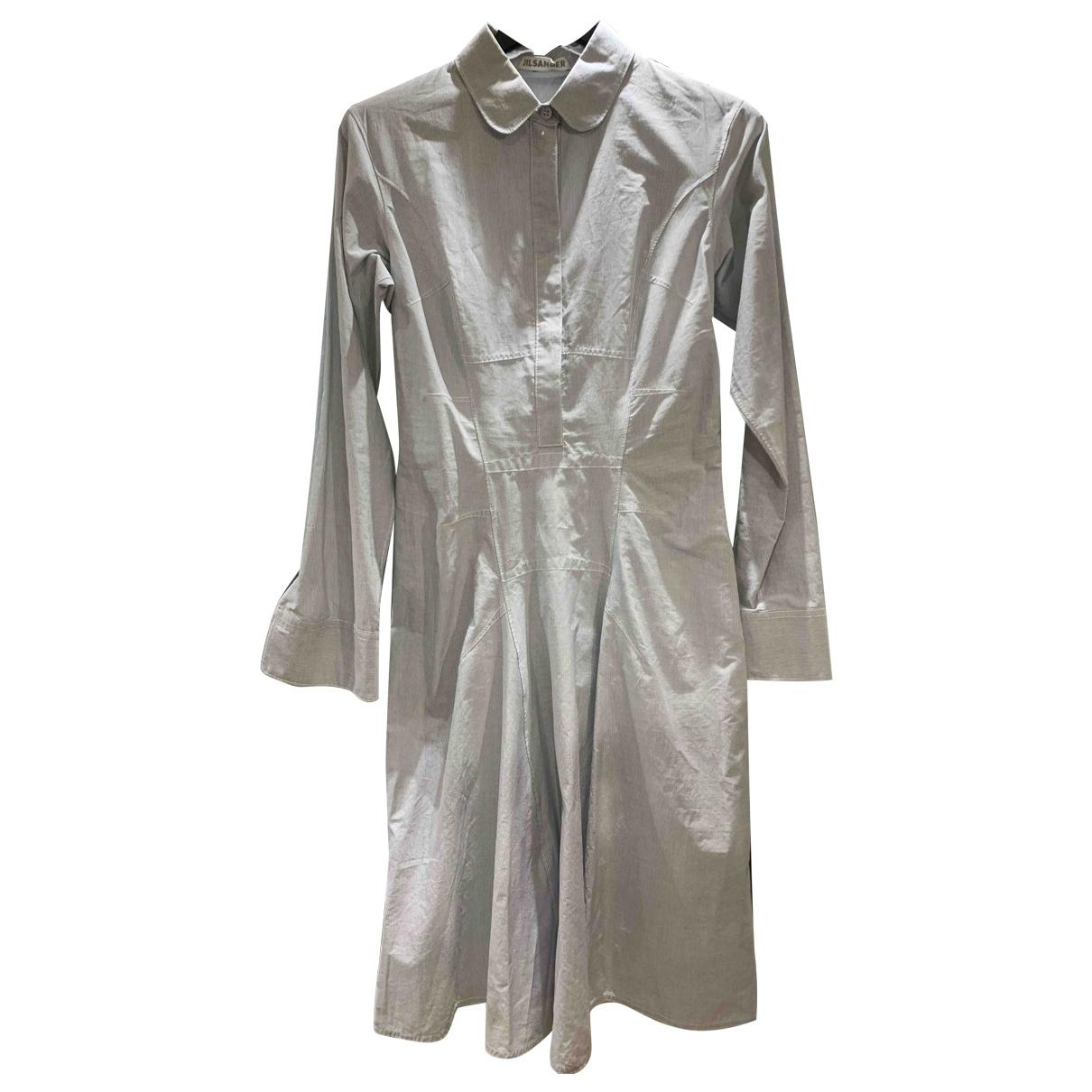 Jil Sander \N Grey Cotton dress for Women 38 IT