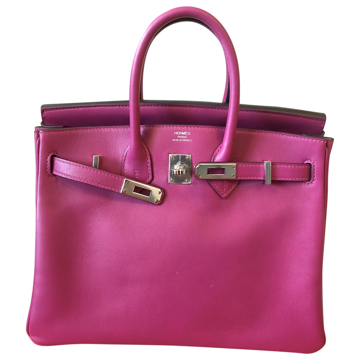 Hermes Birkin 25 Handtasche in  Rosa Leder