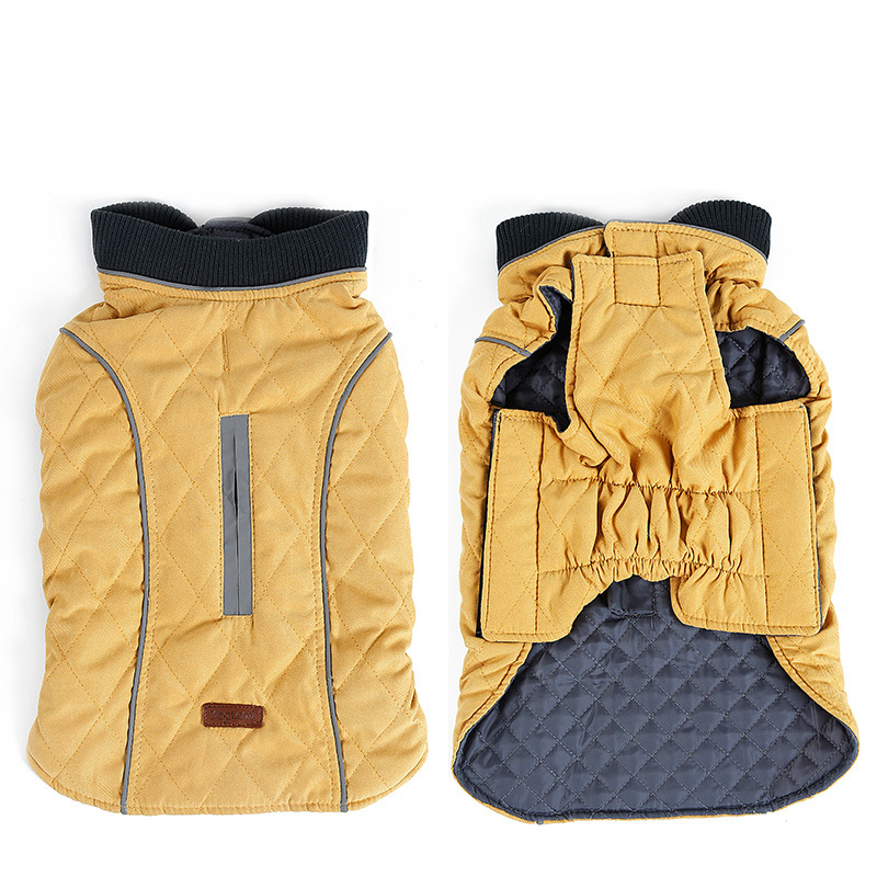 Retro Design Cozy Winter Dog Pet Jacket Vest Warm Pet Outfit Clothes 6 colors