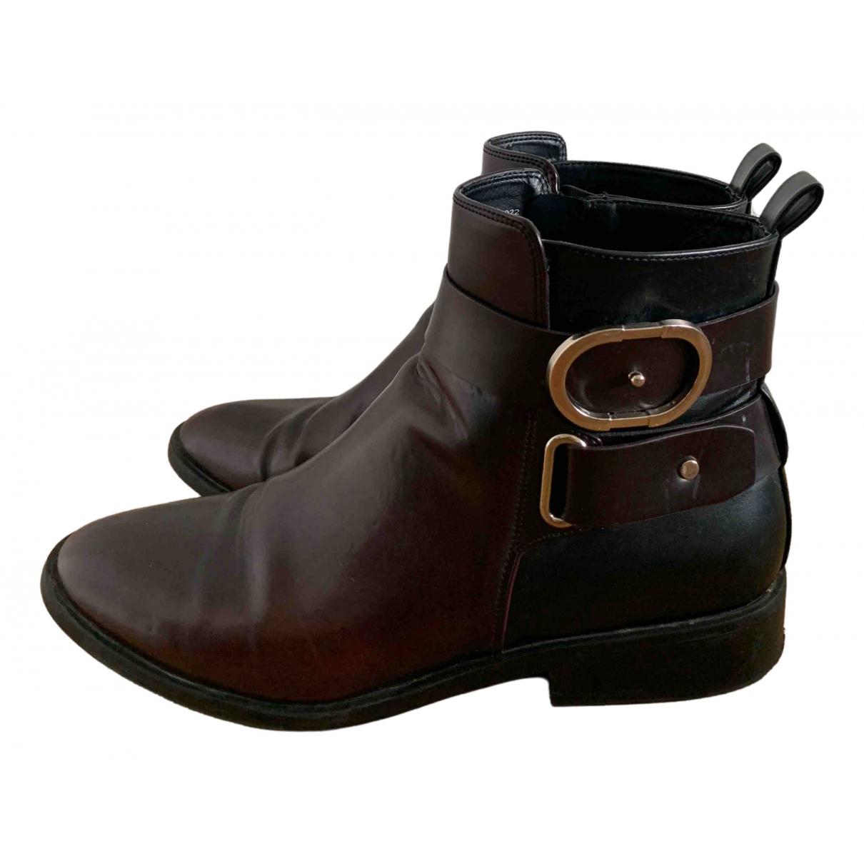 Zara \N Stiefel in  Bordeauxrot Kunststoff