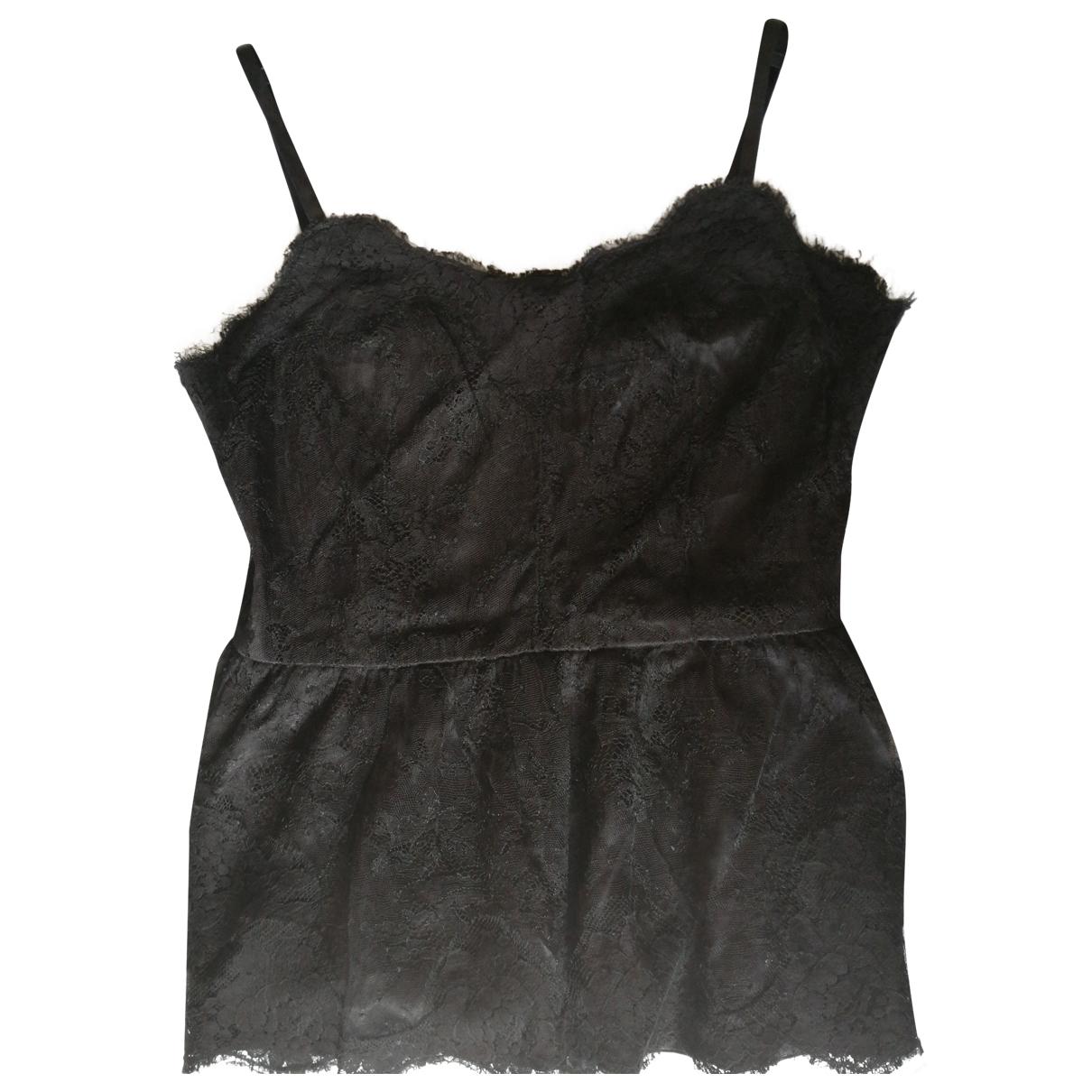 Dolce & Gabbana \N Black Silk  top for Women 44 IT