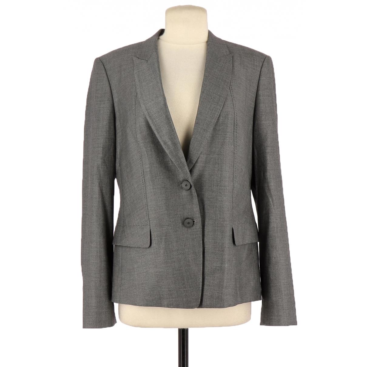 Hugo Boss - Veste   pour femme en laine - gris