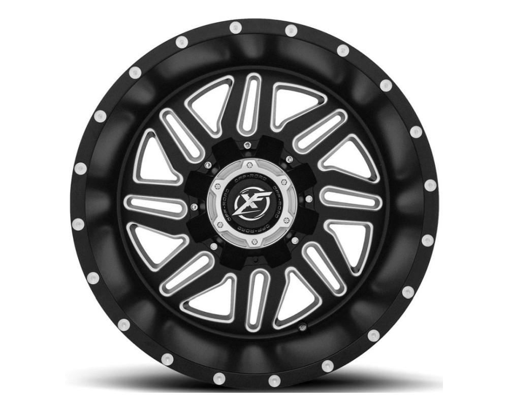 XF Off-Road XF-201 Wheel 20x12 5x139.7 5x150 -44mm Matte Black w/ Milled Window
