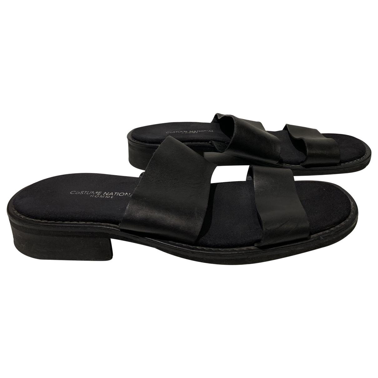 Costume National \N Black Leather Sandals for Men 40 EU