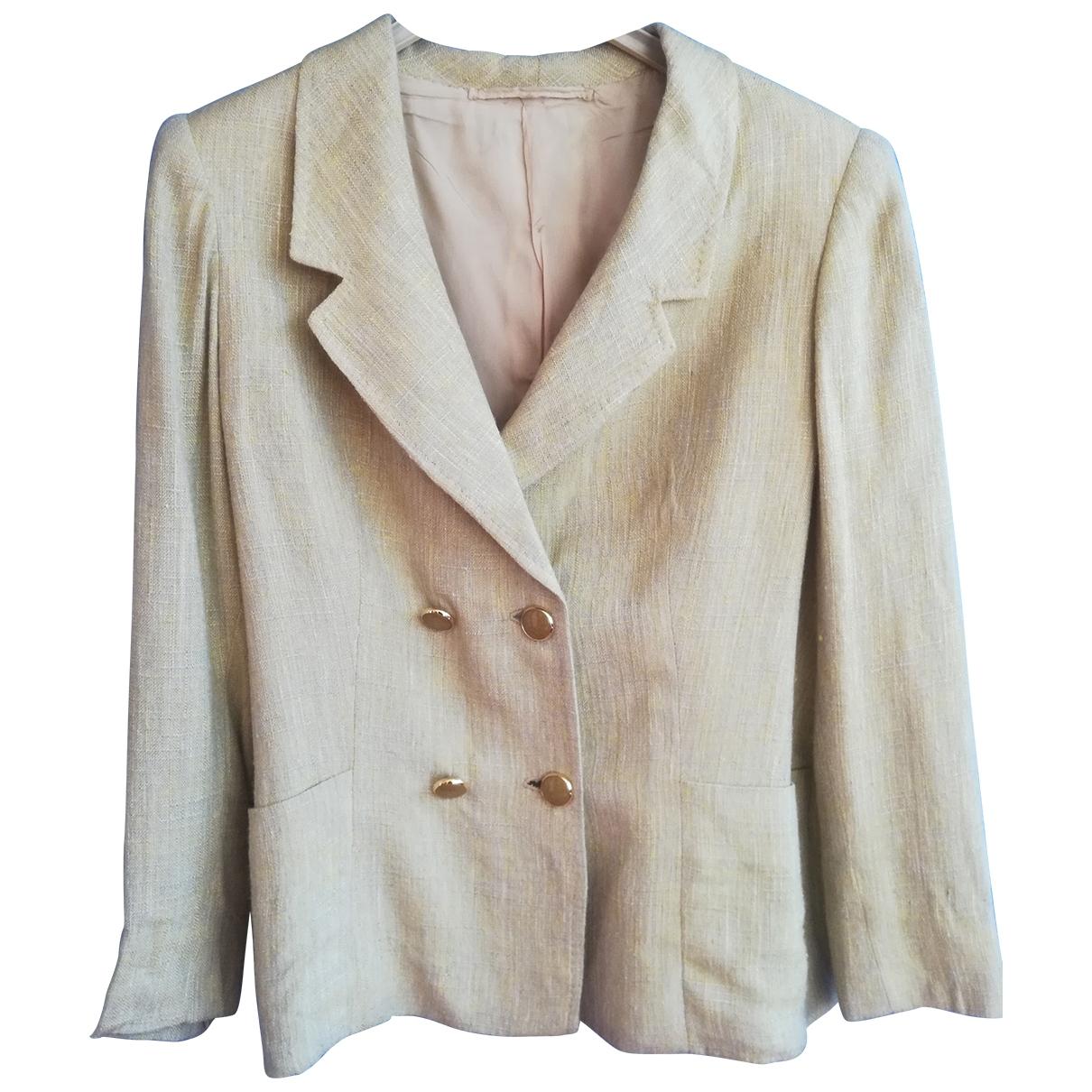 - Veste   pour femme en lin - jaune