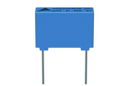 EPCOS 470nF Polyester Capacitor PET 100V dc ±10% (10)