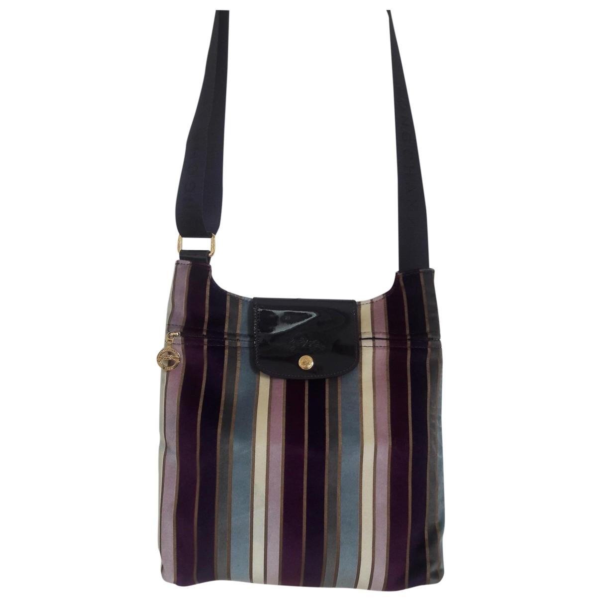 Longchamp - Sac a main Pliage  pour femme en velours - violet