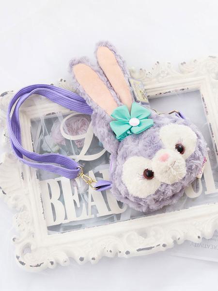 Milanoo Sweet Lolita Bag Lavender Long Plush Shoulder Bag Lolita Accessories