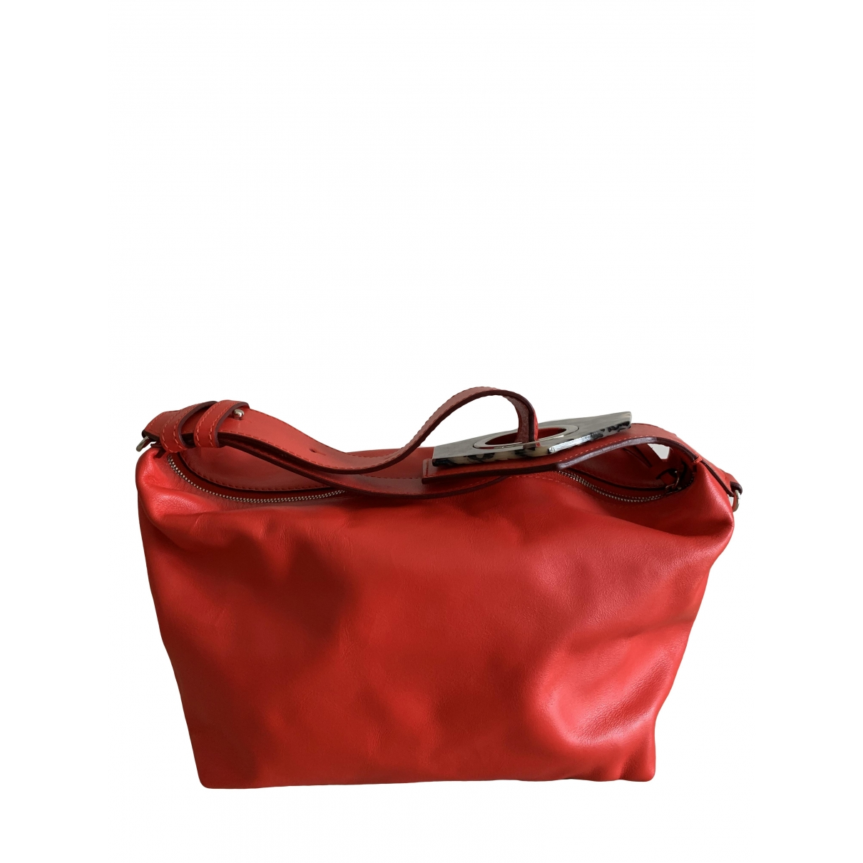 Ganni - Sac a main   pour femme en cuir - rouge