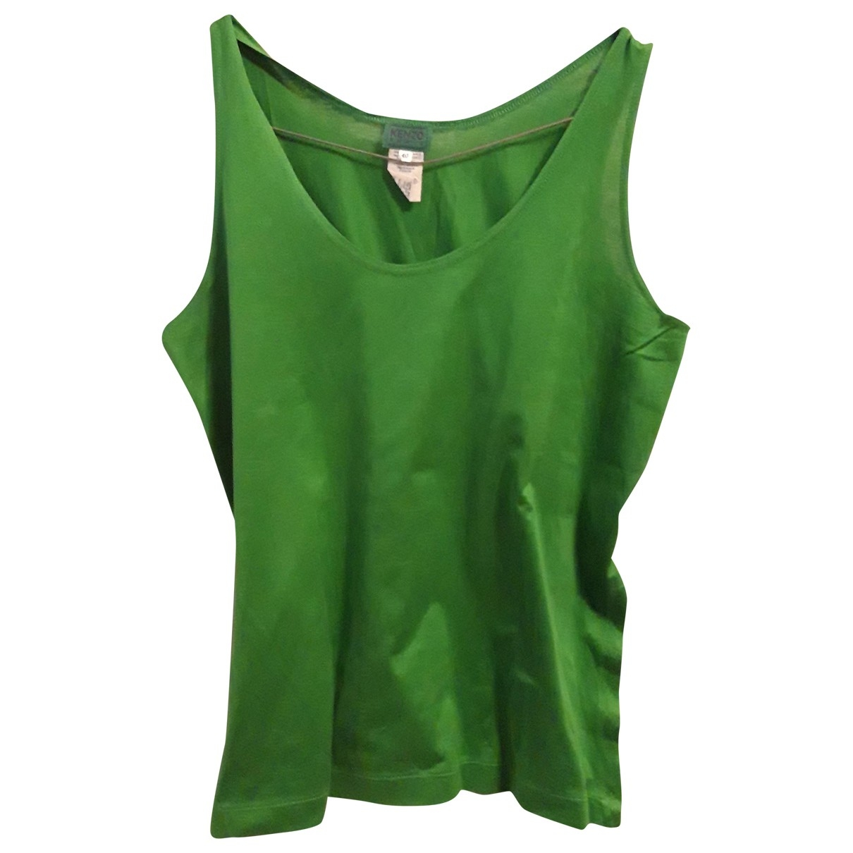 Kenzo - Top   pour femme en coton - vert