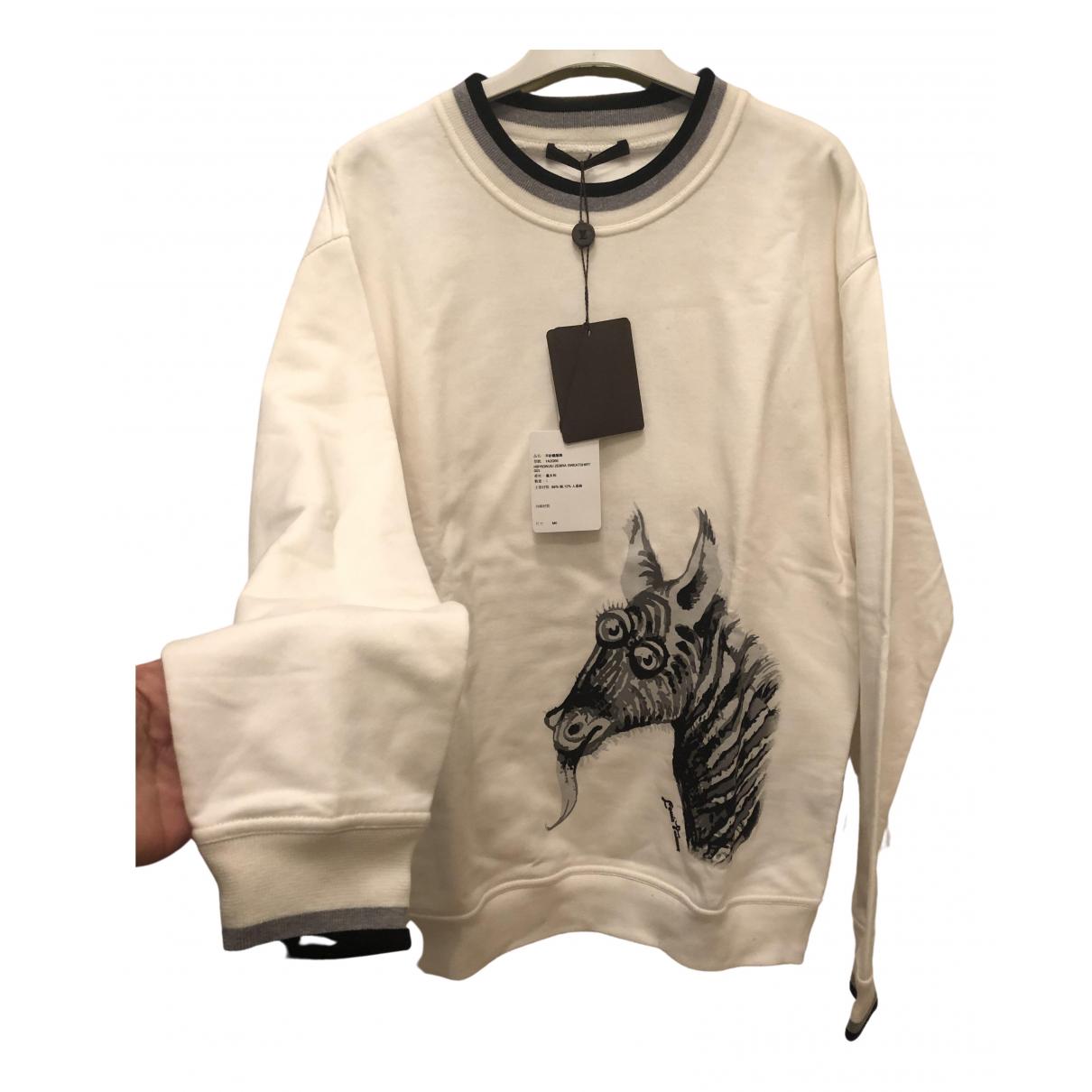 Louis Vuitton - Pulls.Gilets.Sweats   pour homme en coton - ecru