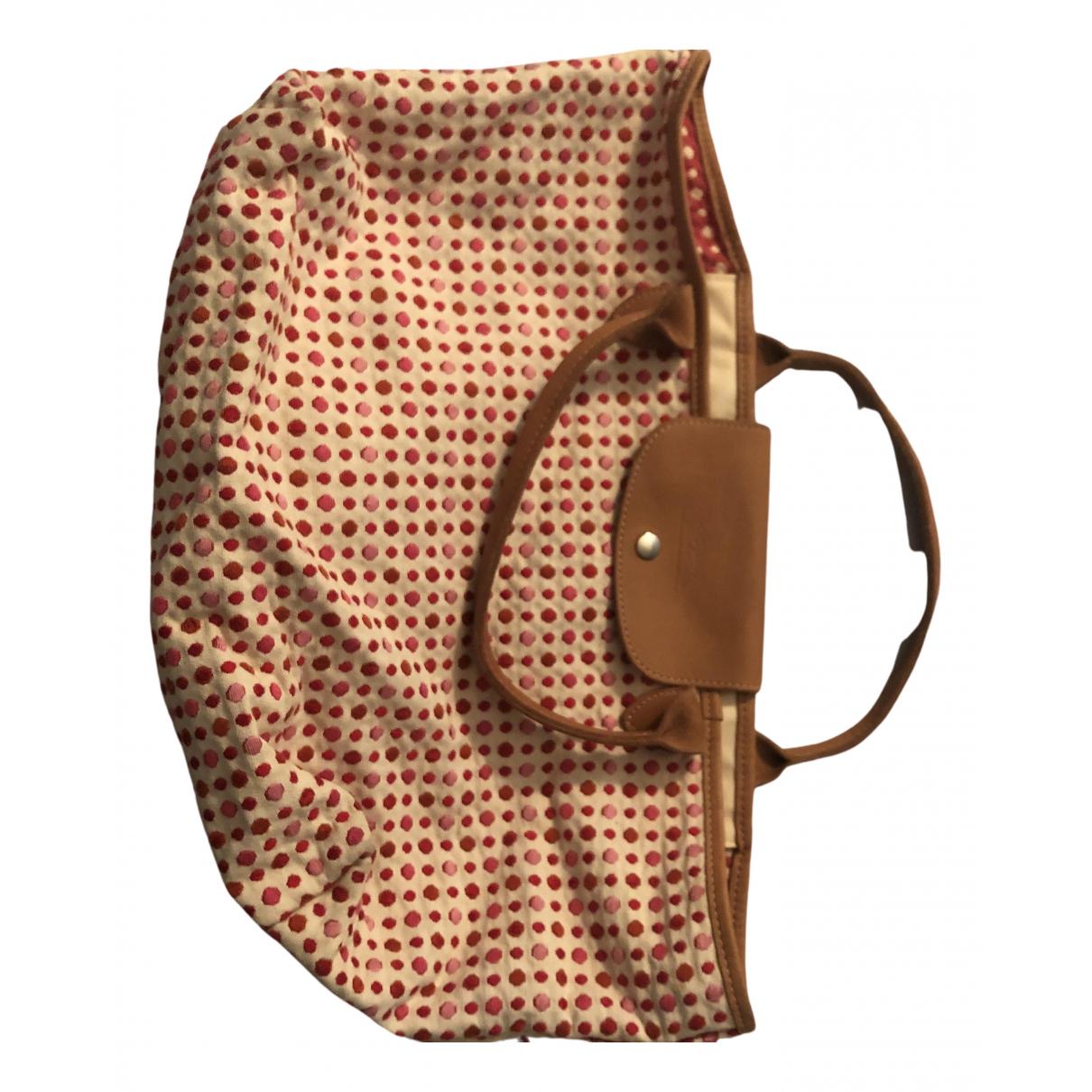 Longchamp Pliage  Handtasche in  Rosa Baumwolle