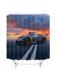 A Cool Black Sports Car Print 3D Bathroom Shower Curtain
