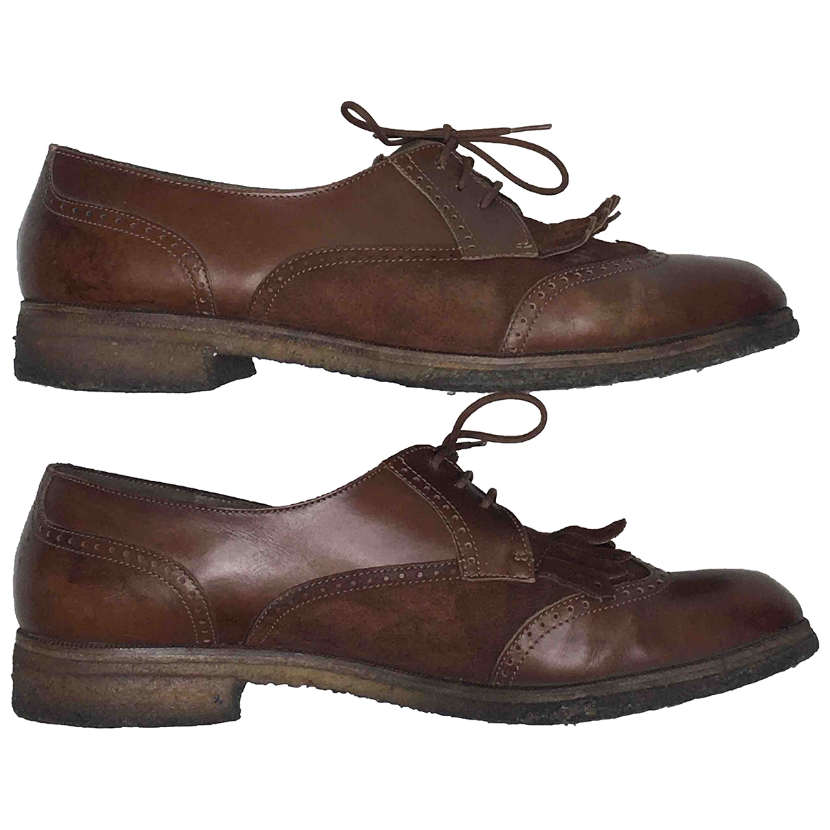 Salvatore Ferragamo \N Brown Leather Lace ups for Women 6.5 US