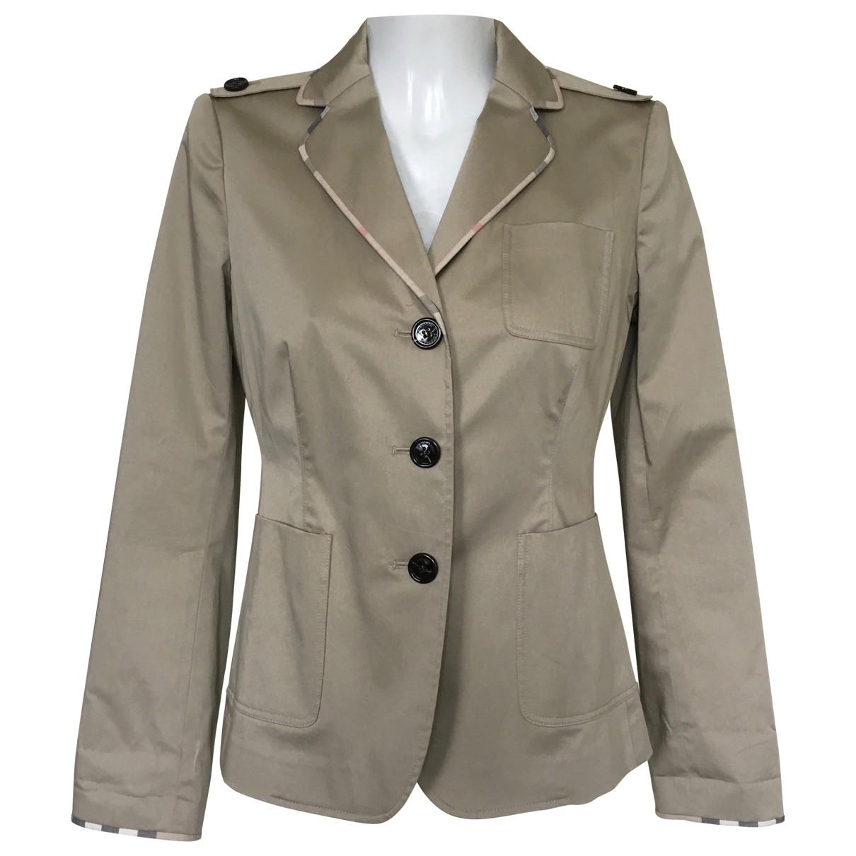 Burberry \N Beige Cotton jacket for Women 38 FR