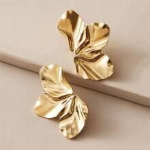 Gehaemmerte Ohrringe mit Blume Design 1 Paar