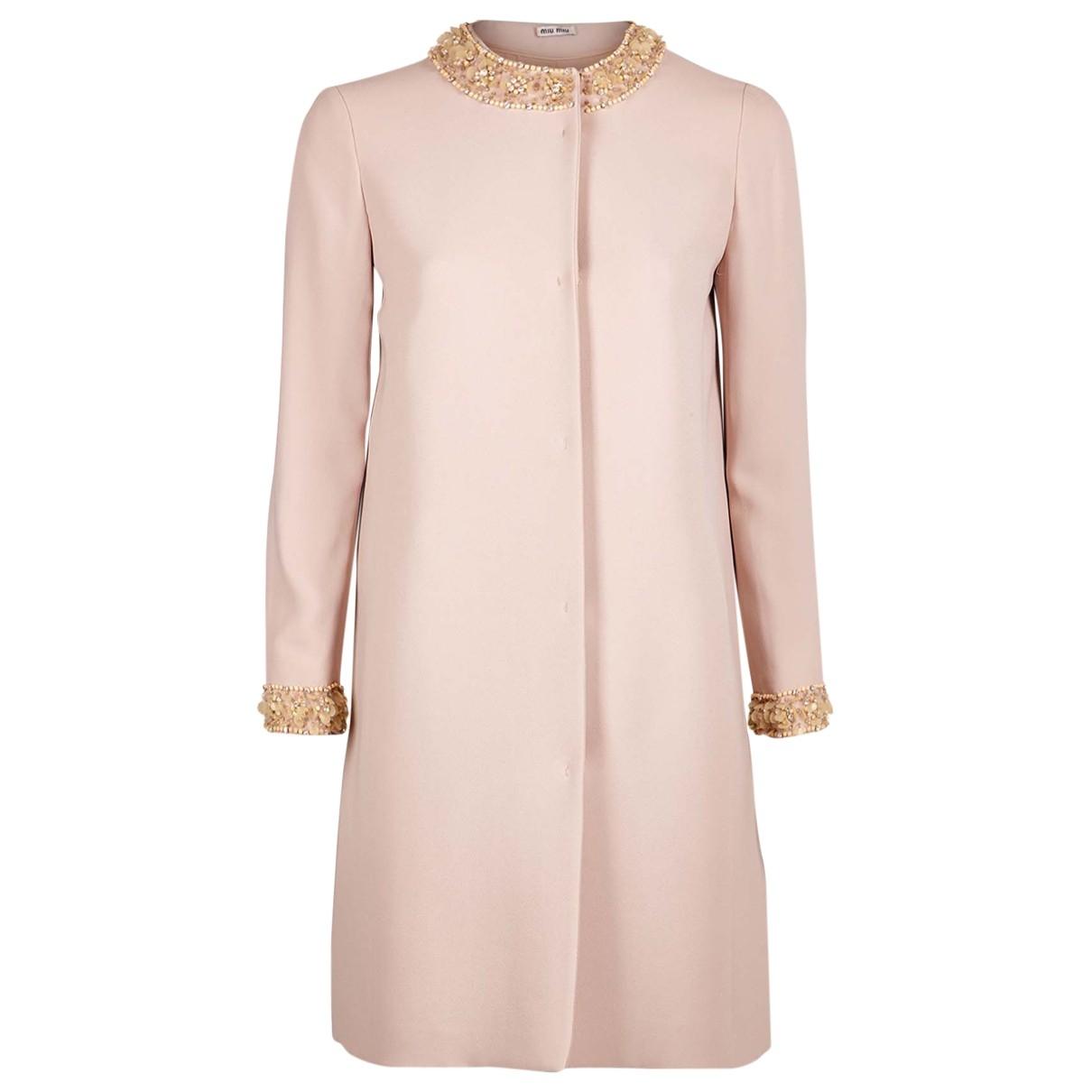 Miu Miu \N Pink coat for Women 8 UK