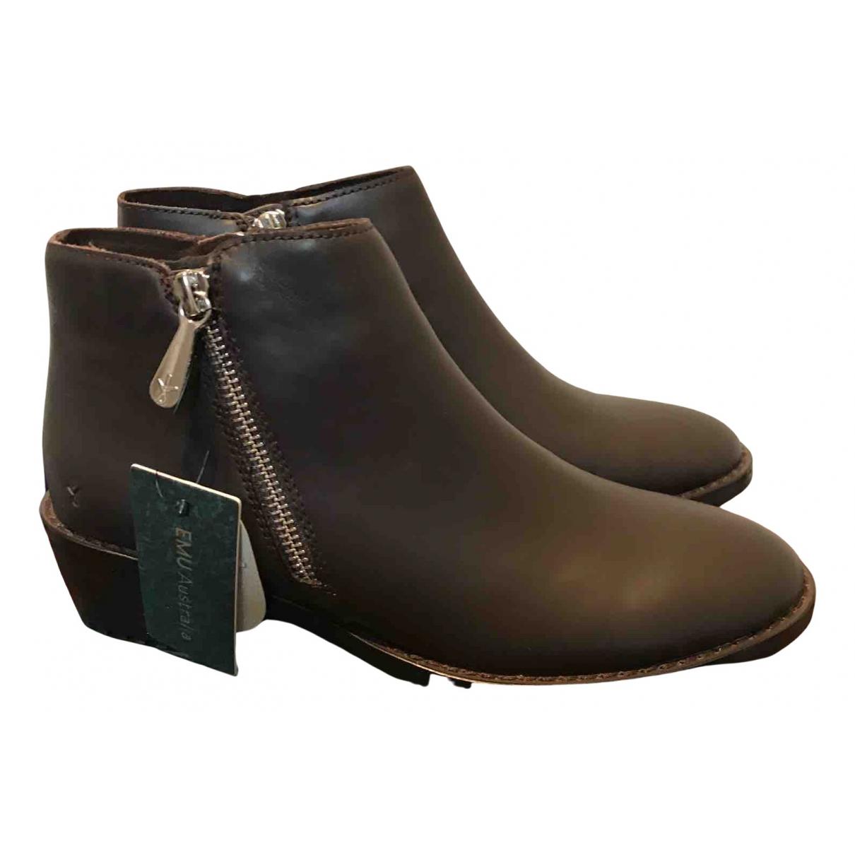 Emu Australia - Bottes   pour femme en cuir - marron
