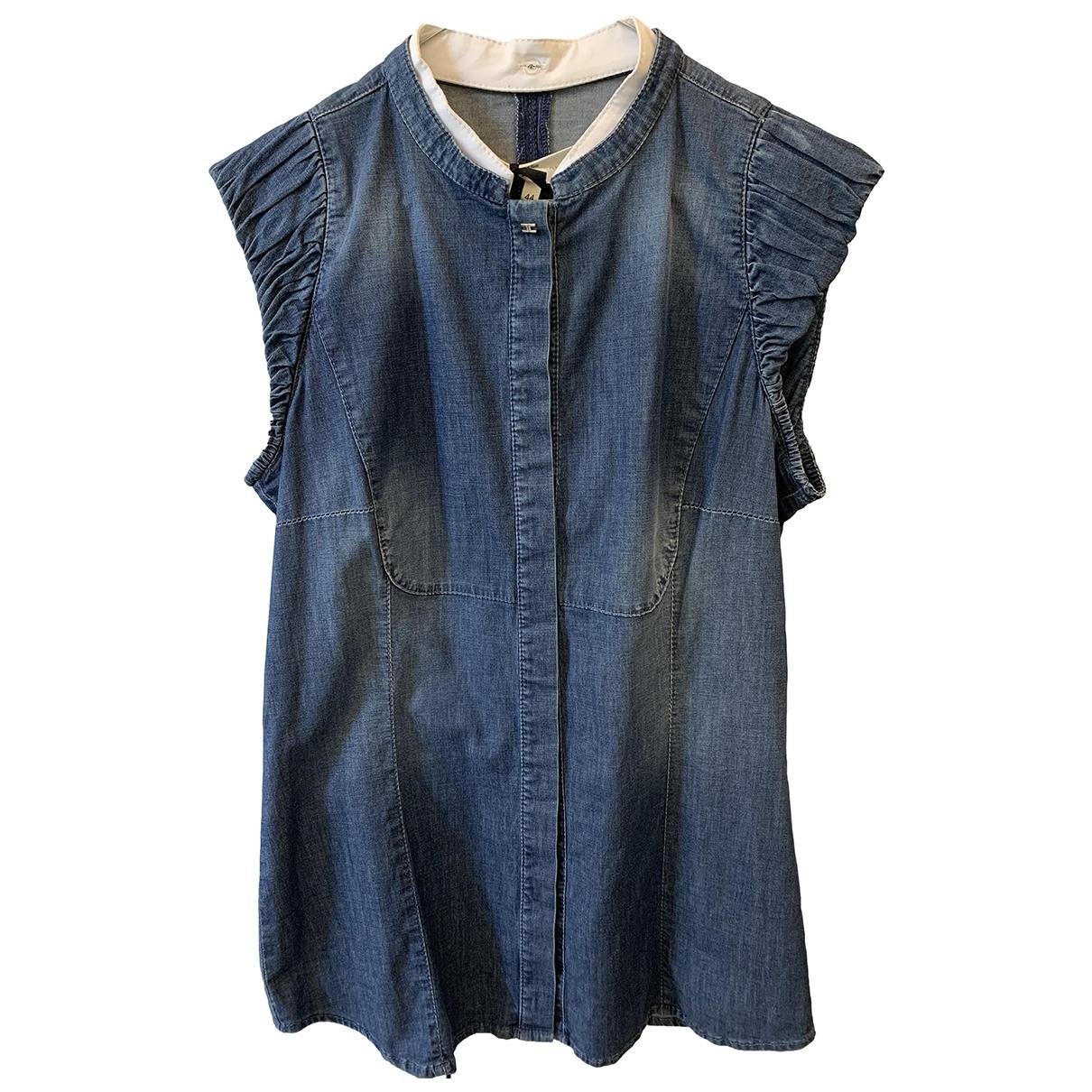 Elisabetta Franchi \N Blue Cotton Knitwear for Women 44 IT