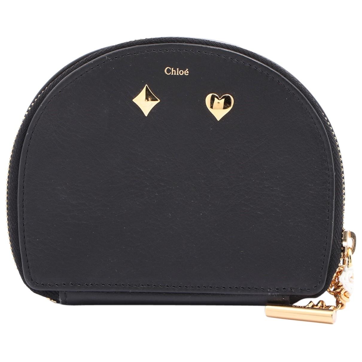 Chloe - Petite maroquinerie   pour femme en cuir - noir