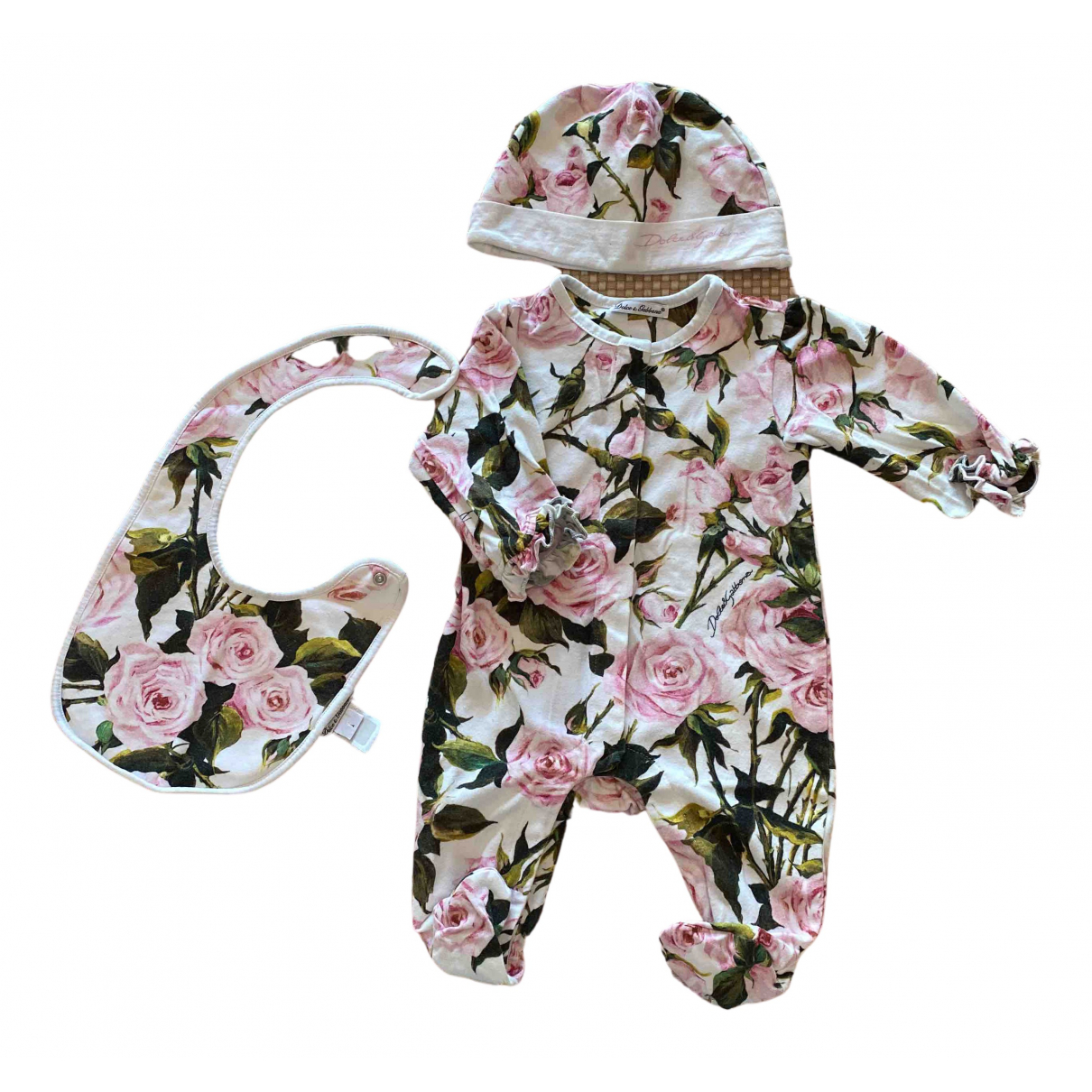 Dolce & Gabbana N White Cotton Outfits for Kids 3 months - up to 60cm FR