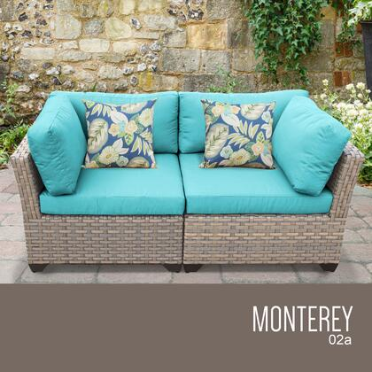 MONTEREY-02a-ARUBA Monterey 2 Piece Outdoor Wicker Patio Furniture Set 02a with 2 Covers: Beige and