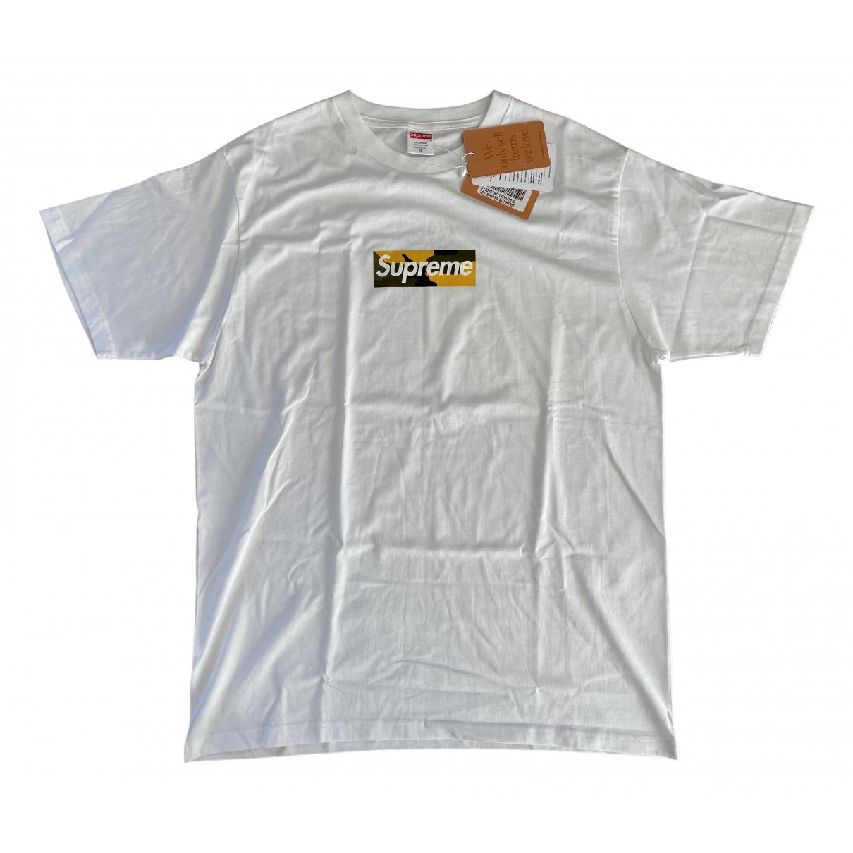 Supreme N White Cotton T-shirts for Men XL International
