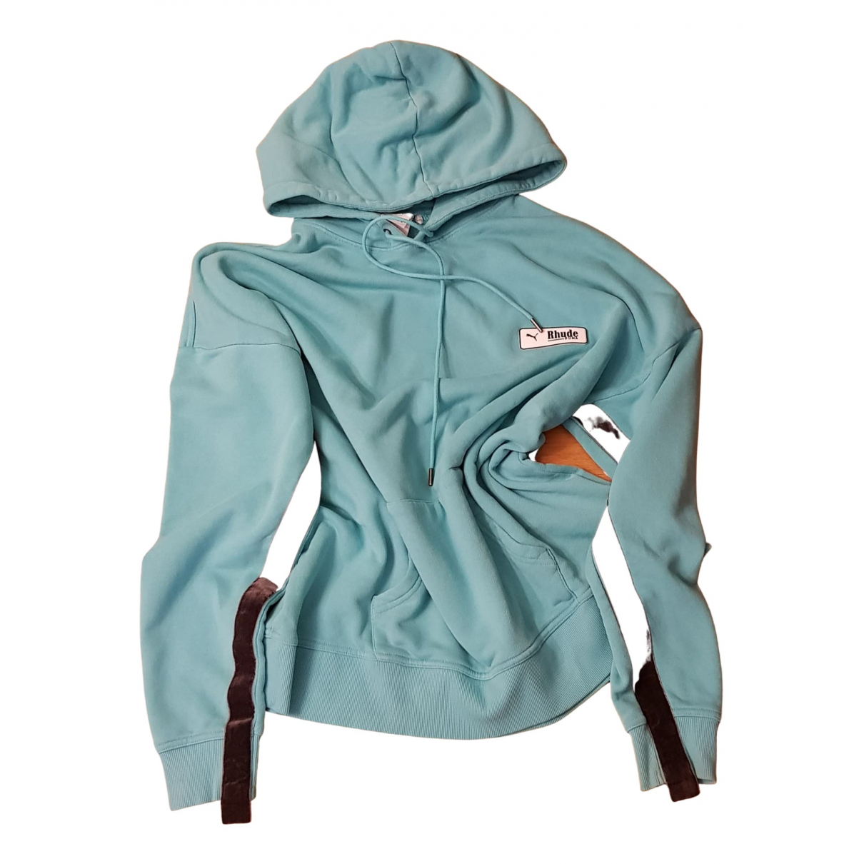 Puma \N Pullover.Westen.Sweatshirts  in  Gruen Baumwolle