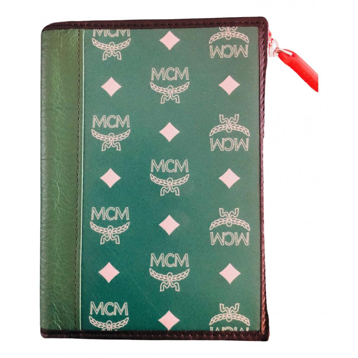 Mcm - Petite maroquinerie   pour homme - vert