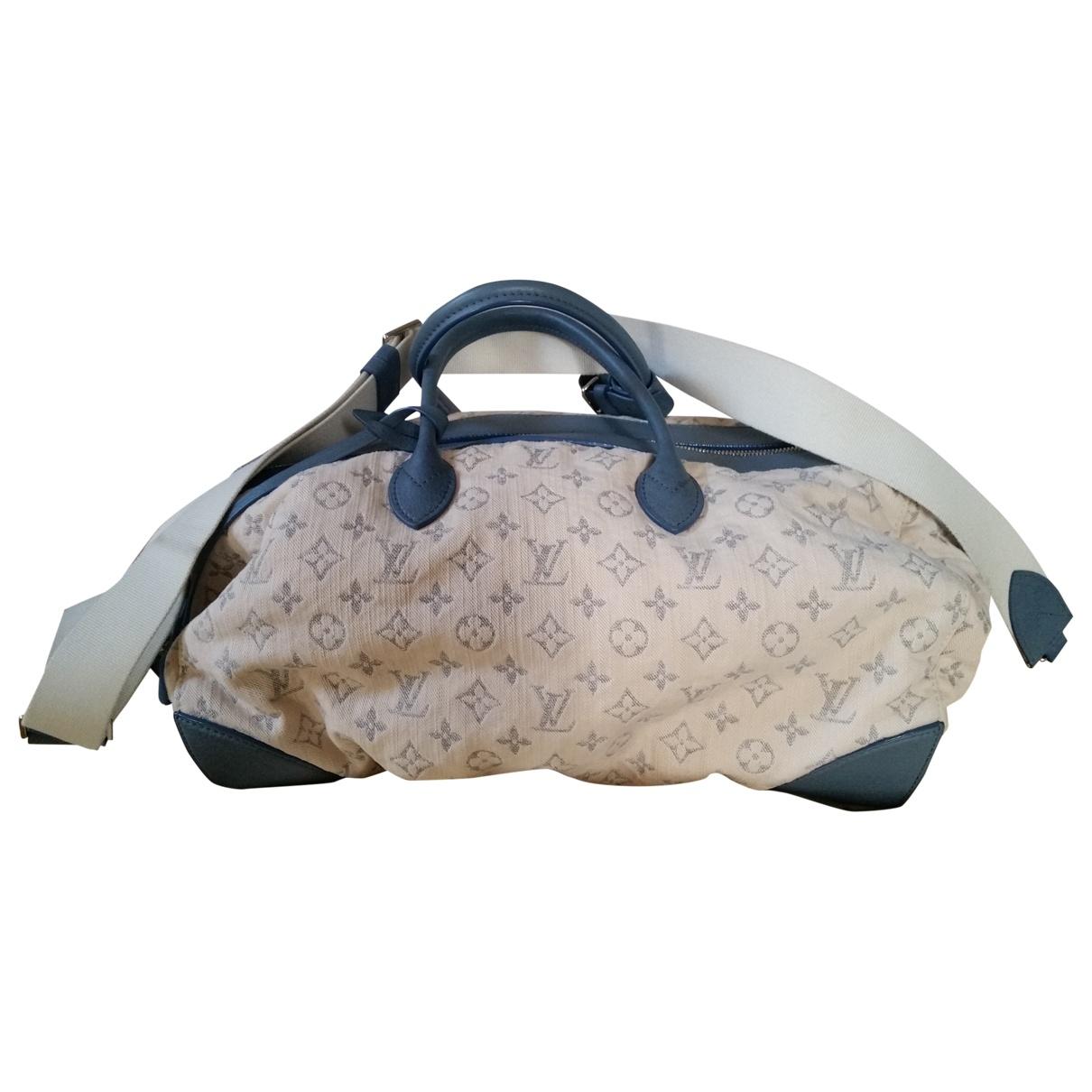 Louis Vuitton - Sac de voyage   pour femme en denim - beige