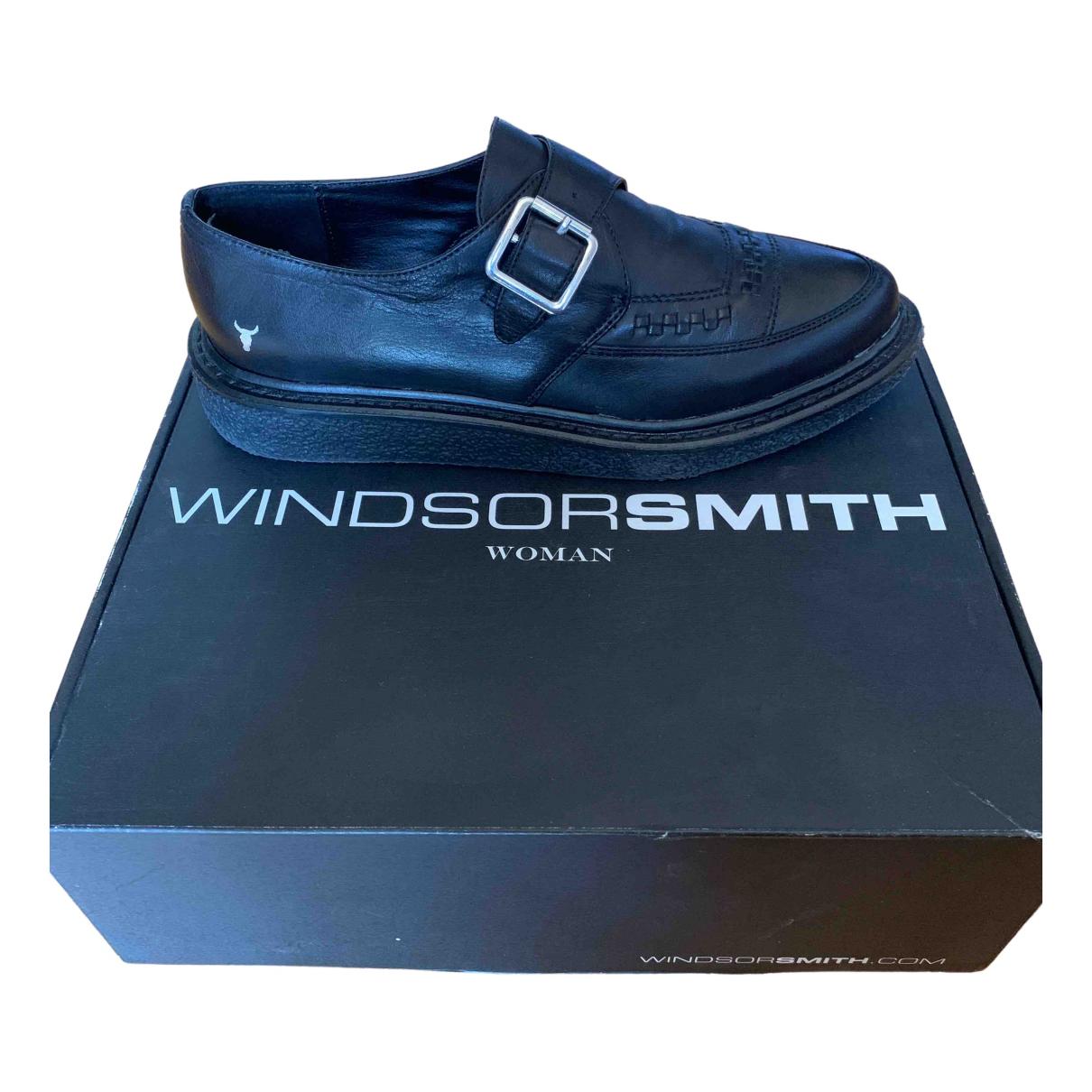 Windsor Smith \N Schnuerschuhe in  Schwarz Leder