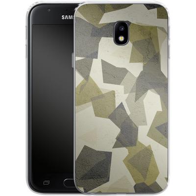 Samsung Galaxy J3 (2017) Silikon Handyhuelle - Geometric Camo Green von caseable Designs