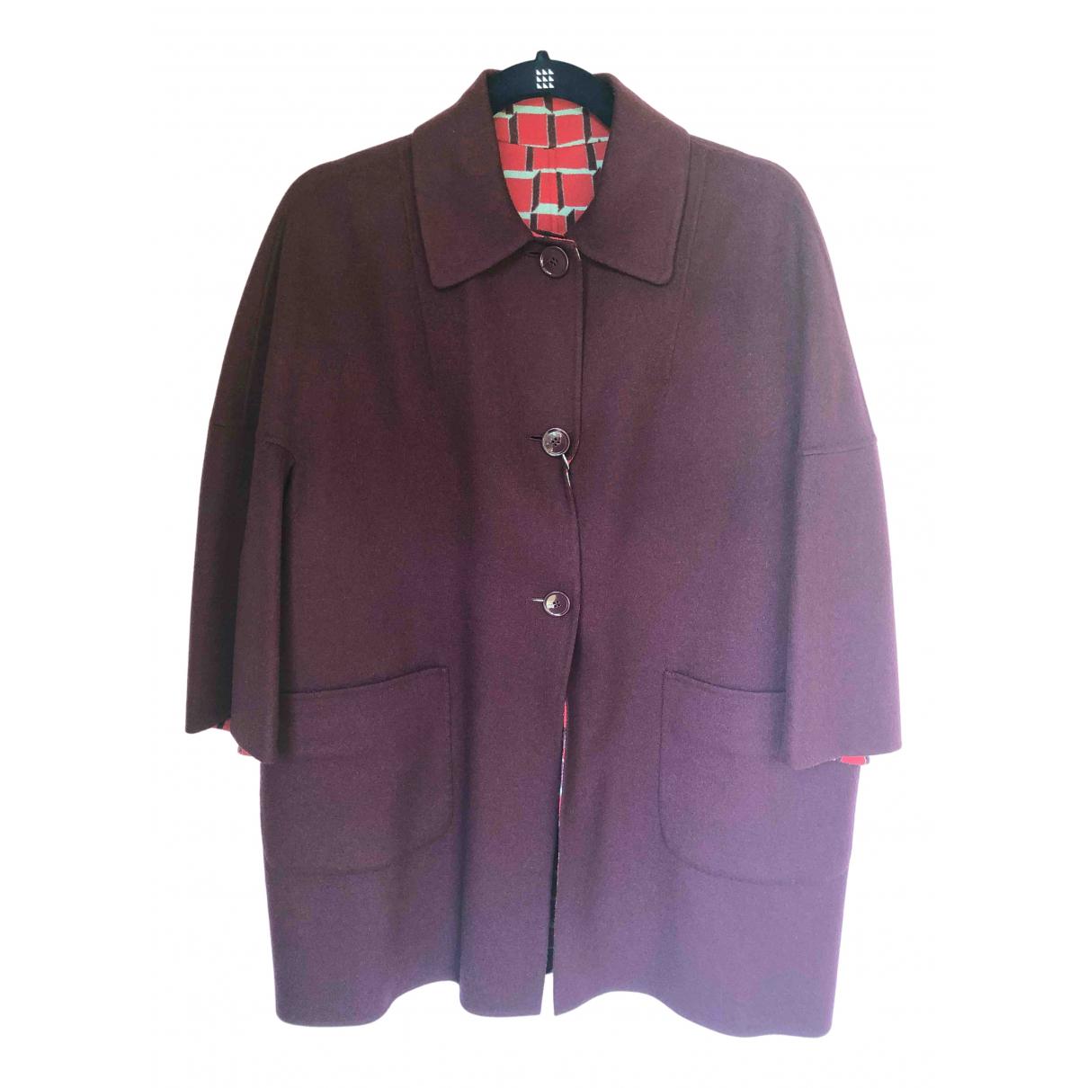 Max Mara Weekend - Manteau   pour femme en laine - bordeaux