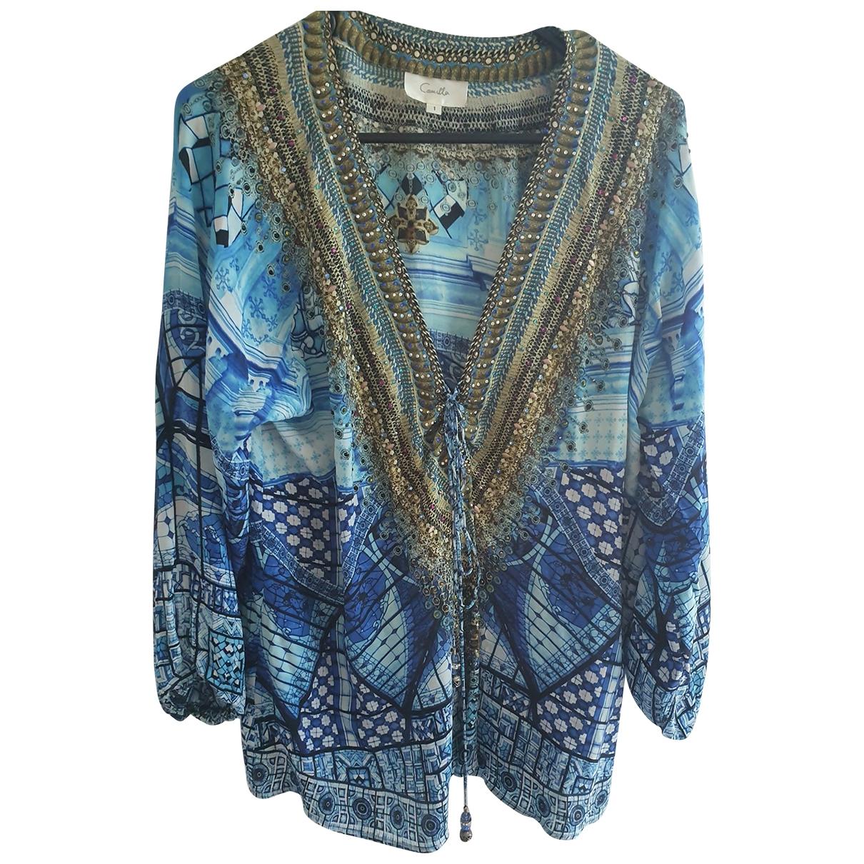 Camilla \N Blue Silk  top for Women 1 0-5