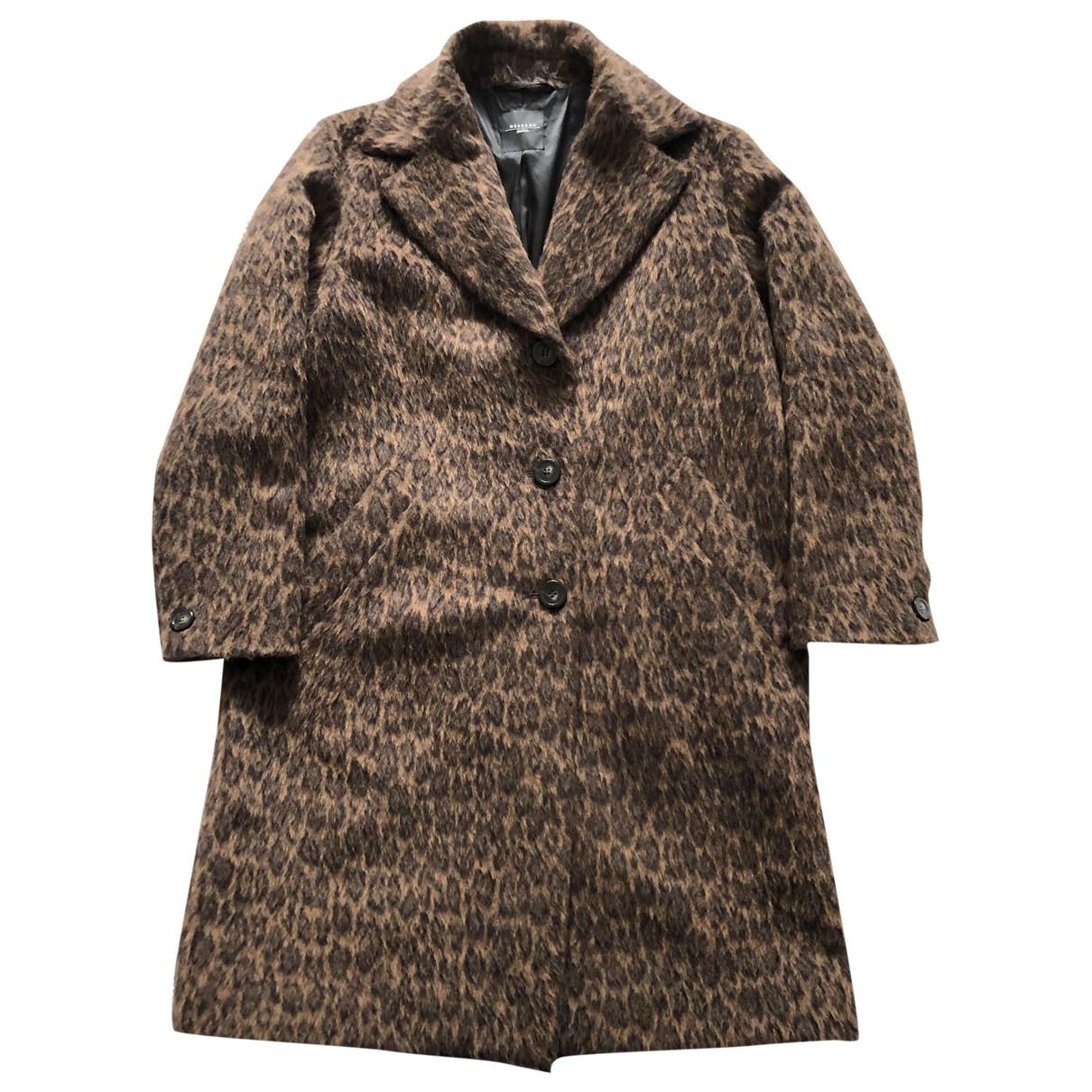 Max Mara Weekend - Manteau   pour femme en laine - marron