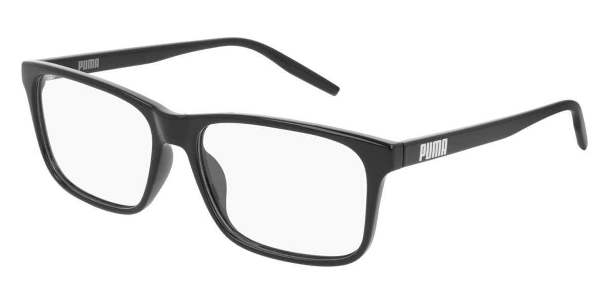 Puma PE0129O 001 Men's Glasses Black Size 56 - Free Lenses - HSA/FSA Insurance - Blue Light Block Available