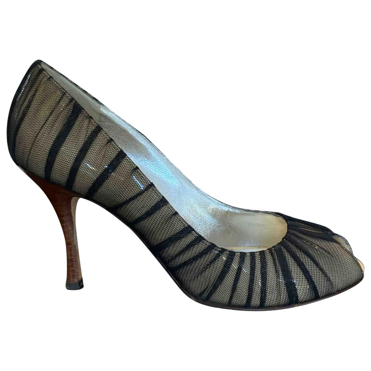 Dolce & Gabbana - Sandales   pour femme en toile - noir