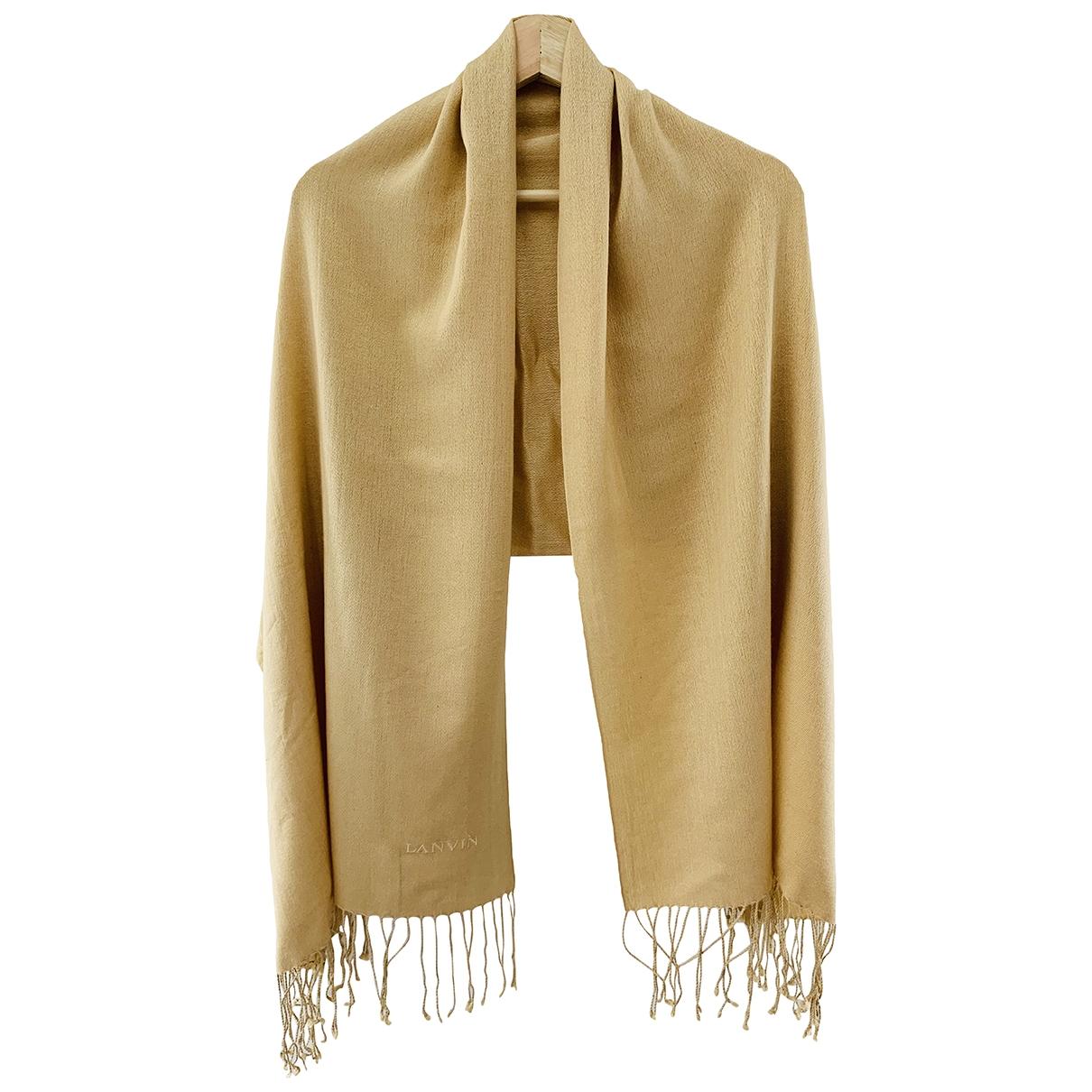Lanvin - Foulard   pour femme en soie - dore