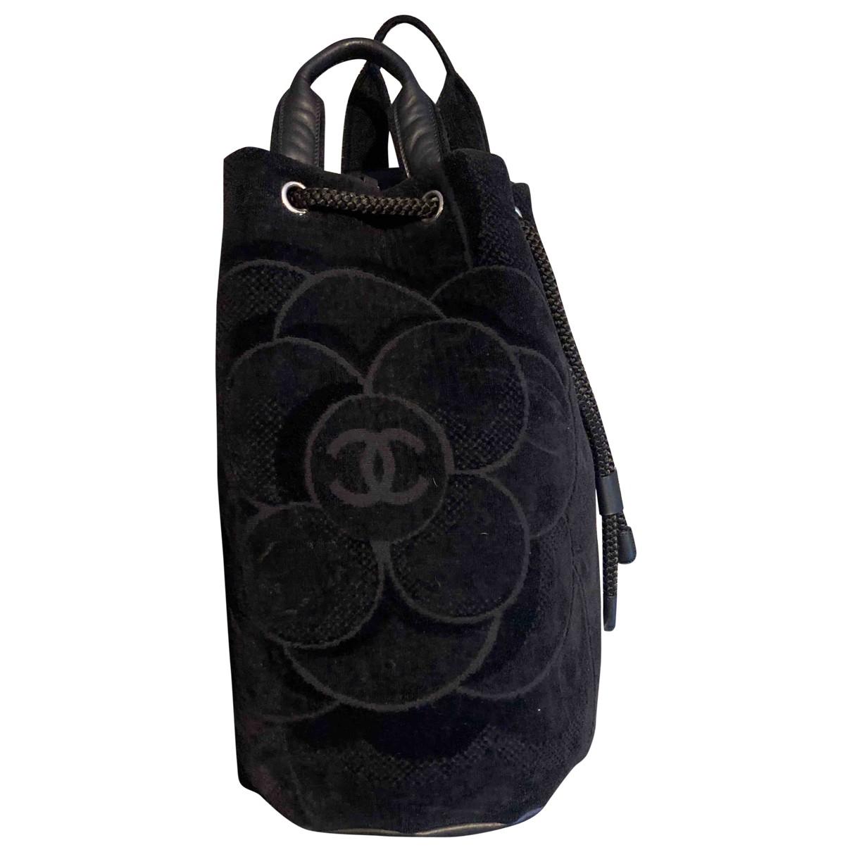 Chanel \N Black Velvet backpack for Women \N