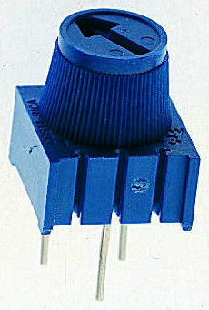 Bourns 100Ω, Through Hole Trimmer Potentiometer 0.5W Top Adjust , 3386