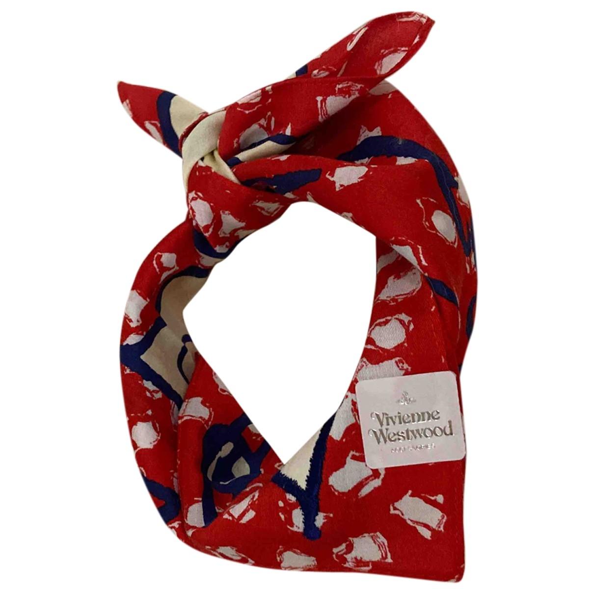 Vivienne Westwood - Foulard   pour femme en coton - rouge