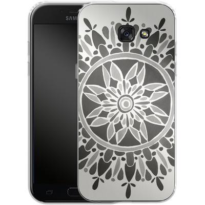 Samsung Galaxy A5 (2017) Silikon Handyhuelle - Mandala Black von Cat Coquillette