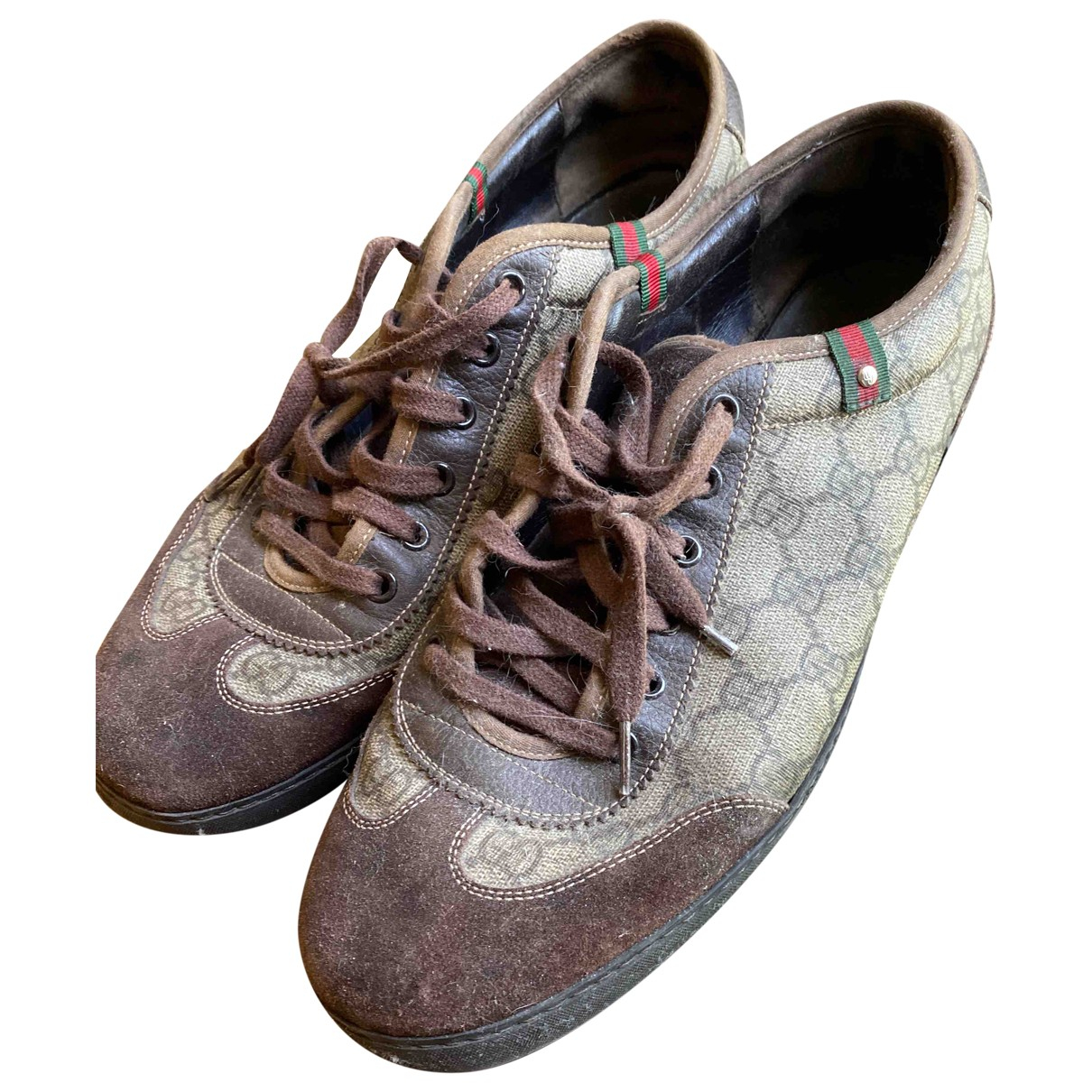 Gucci \N Sneakers in  Braun Leinen