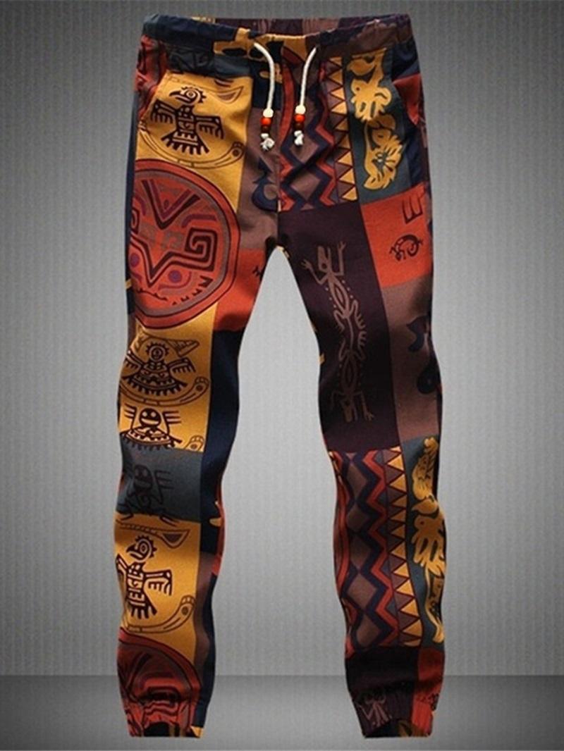 Ericdress Print Harem Vintage Men's Casual Pants