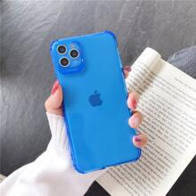 1pc Solid Clear iPhone Case