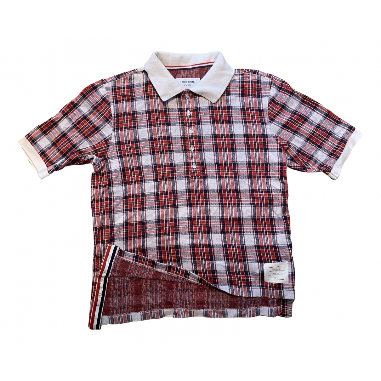 Thom Browne - Polos   pour homme en coton - rouge
