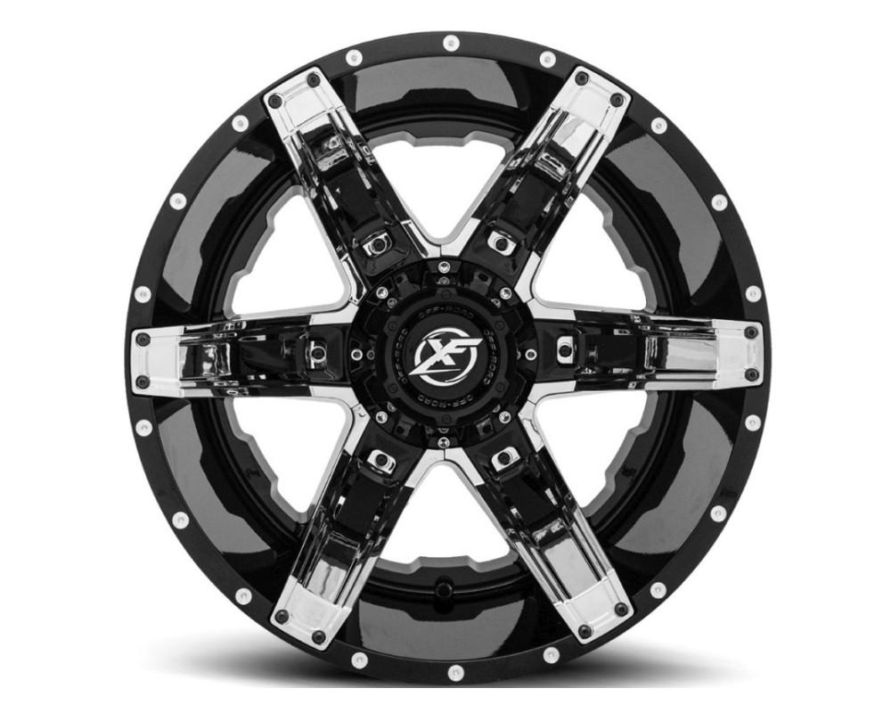 XF Off-Road XF-214 Wheel 20x12 6x135|6x139.7 -44mm Gloss Black w/ Chrome Insert