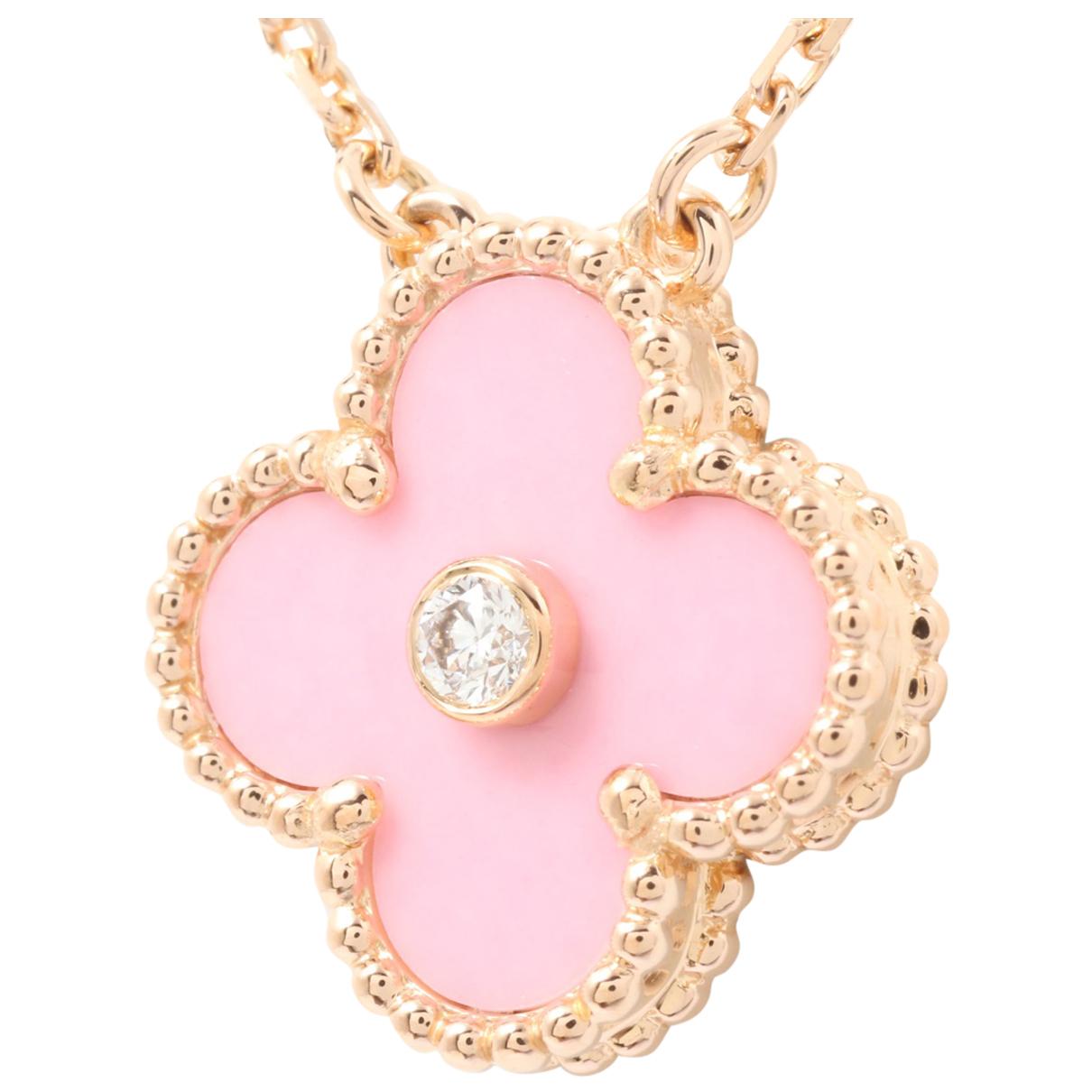 Van Cleef & Arpels - Collier Vintage Alhambra pour femme en or rose - dore